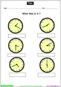 Time 3 Worksheet