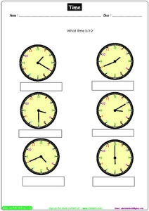 Time 4 Worksheet