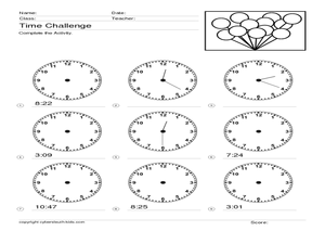 Time Challenge: Mixed Times Worksheet