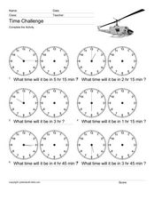 Time Challenge: Time Differentials 12 Worksheet