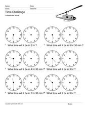 Time Challenge: Time Differentials 13 Worksheet