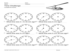 Time Challenge: Time Differentials 4 Worksheet