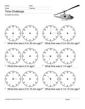 Time Challenge: Time Differentials 5 Worksheet