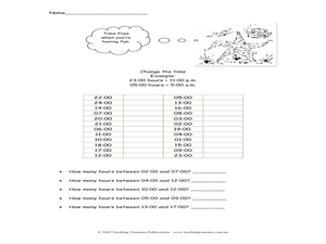 Time Conversions Worksheet