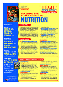 Time For Kids: Nutrition Lesson Plan
