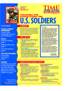 Time For Kids: U.S. Soldiers Lesson Plan