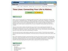 Time Lines: Connecting Your Life to History Lesson Plan