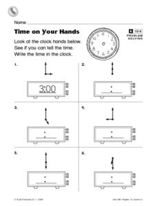 Time on Your Hands Worksheet