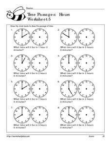 Time Passages: Hours Worksheet 5 Worksheet