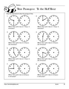 Time Passages: To the Half Hour 2 Worksheet