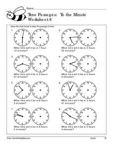 Time Passages: To the Minute  Worksheet 8 Worksheet