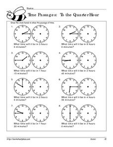 Time Passages: To the Quarter Hour Worksheet