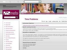 Time Problems Lesson Plan