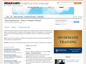 lesson plan on past perfect Summary a short lesson on how to use past participles students will change or  write sentences using the future perfect tense objectives • to assess students.