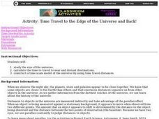 Time Travel to the Edge of the Universe and Back! Lesson Plan