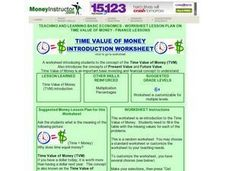 Time Value of Money Introduction Worksheet Lesson Plan