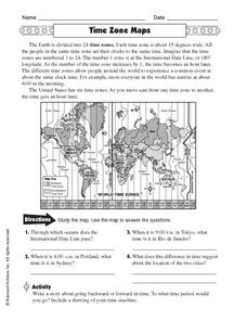 Printables Time Zone Worksheets time zones worksheet davezan zone maps 5th 6th grade lesson planet