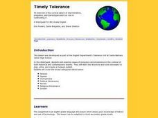 Timely Tolerance Lesson Plan