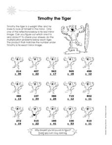 Timothy the Tiger Worksheet