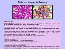Tints and Shades in Tempera Lesson Plan