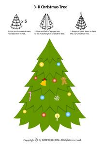 Tiny Christmas Tree Worksheet