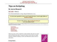 Tips on Scripting Lesson Plan