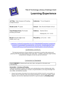 Title III Technology Literacy Challenge Grant Lesson Plan