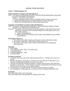 Title Match-Up Lesson Plan