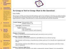To Group of Not to Group - That is the Question! Lesson Plan