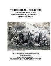 To Honor All Children from Prejudice to Discrimination to Hatred....to Holocaust, Part 1 Lesson Plan