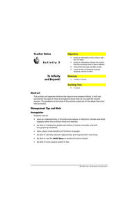 To Infinity and Beyond Lesson Plan