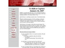To Kill or Capture Lesson Plan