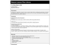 To Tell or Not to Tell Lesson Plan