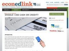 To Use Cash or Credit?: Economics, Decision Making Lesson Plan