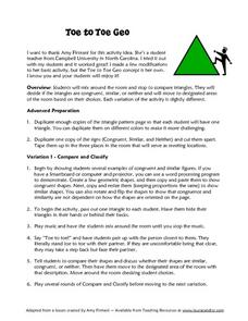 Toe to Toe Geo Lesson Plan