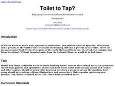 Toilet to Tap? Lesson Plan