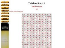 Tolkien Search Worksheet