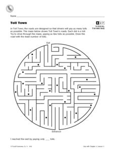 Toll Town Maze Worksheet