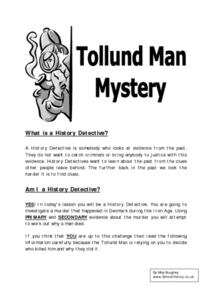 Tollund Man Mystery Worksheet
