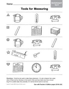 Tools for Measuring: Enrichment Worksheet