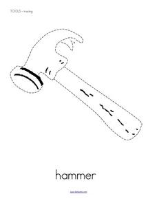 Tools: Tracing Practice Worksheet