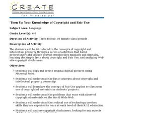 'Toon Up Your Knowledge of Copyright and Fair Use Lesson Plan
