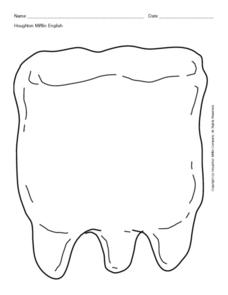 Tooth Worksheet