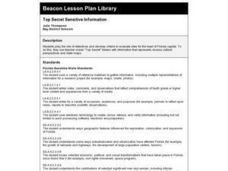 Top Secret Sensitive Information Lesson Plan