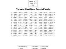 tornado alert word search puzzle 4th 5th grade worksheet lesson planet. Black Bedroom Furniture Sets. Home Design Ideas