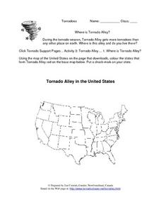 Tornado Alley in the United States Lesson Plan