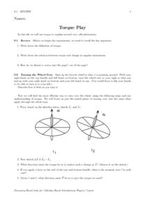 Torque Play Worksheet