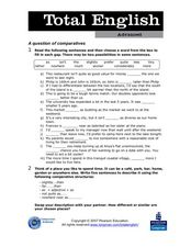 Total English Advanced: A Question of Comparatives Worksheet