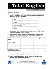 Total English Advanced: Business Ventures Worksheet