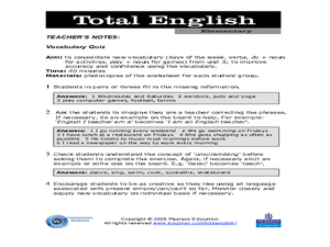 Total English Elementary Worksheet